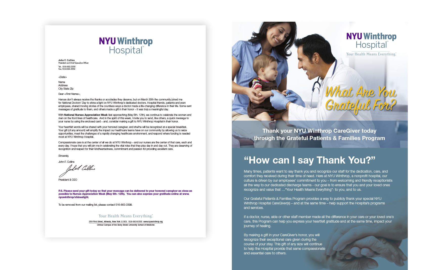 NYU Winthrop Hospital Direct Mail