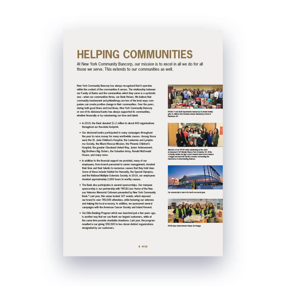 New York Community Bancorp, Inc. 2019 Annual Report